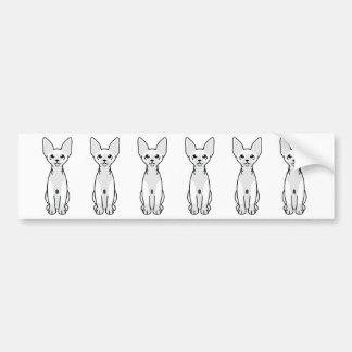 Adesivo Para Carro Desenhos animados do gato de Sphynx