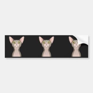 Adesivo Para Carro Desenhos animados do gato de Sphynx (bicolores)