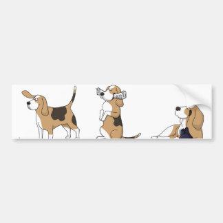 Adesivo Para Carro desenhos animados treeing 2 do coonhound do