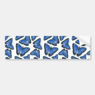Adesivo Para Carro Design azul do teste padrão de borboleta do morpho