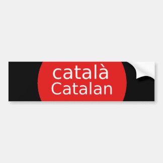 Adesivo Para Carro Design Catalan da língua