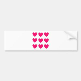 Adesivo Para Carro Design cor-de-rosa do coração