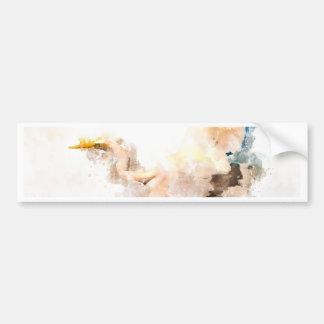 Adesivo Para Carro Design da aguarela, vôo do pássaro do guindaste
