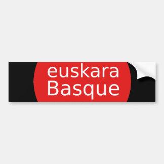 Adesivo Para Carro Design da língua Basque