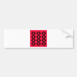Adesivo Para Carro Design maia vermelho do design de Ethno
