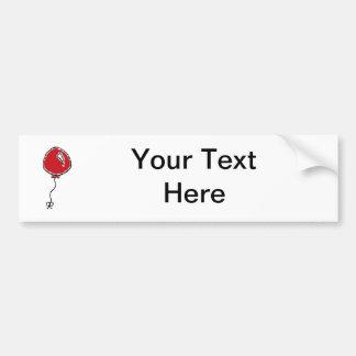 Adesivo Para Carro Design vermelho dos desenhos animados do balão
