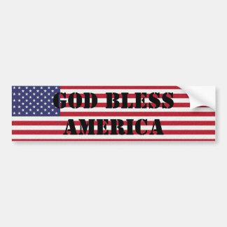 Adesivo Para Carro Deus abençoe clássicos e poderosos patrióticos