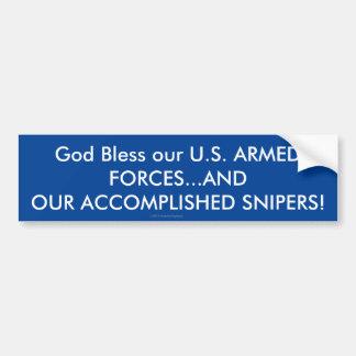 Adesivo Para Carro Deus abençoe nossas FORÇAS ARMADAS dos E.U.… E