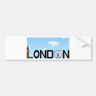 Adesivo Para Carro Dia da skyline de Londres