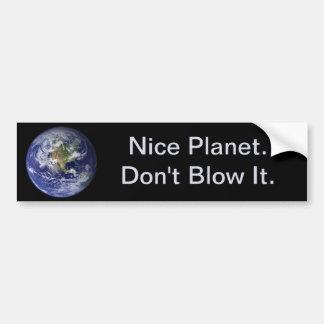 Adesivo Para Carro Dia da Terra: Planeta agradável--Não o funda