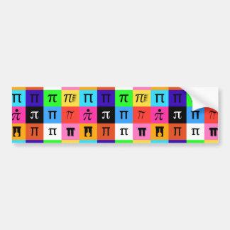 Adesivo Para Carro dia feliz do pi do colorblock
