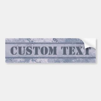 Adesivo Para Carro Digi cinzento Camo com texto feito sob encomenda
