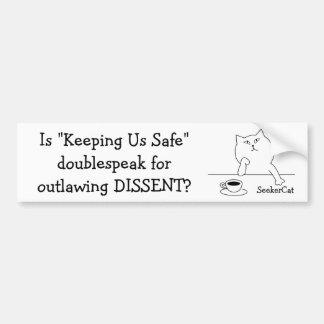 Adesivo Para Carro Dissidência de SeekerCat