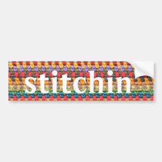 "Adesivo Para Carro do ""autocolante no vidro traseiro do Crochet"