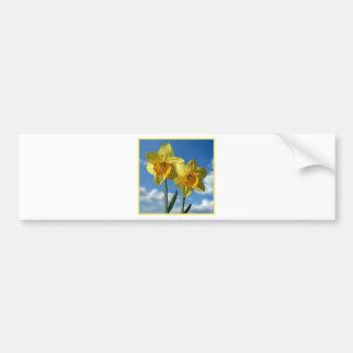 Adesivo Para Carro Dois Daffodils amarelos 2,2