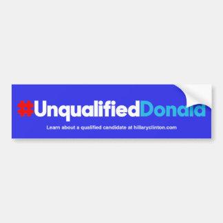 Adesivo Para Carro Donald/azul incompetentes
