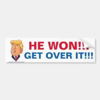 Adesivo Para Carro Donald Trump ganhou, assim que obtenha sobre ele