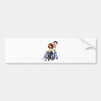 Adesivo Para Carro Doutor Wheeling Paciente Cadeira de rodas dos