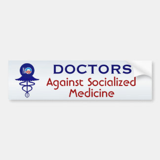 Adesivo Para Carro Doutores medicina socializada Contra