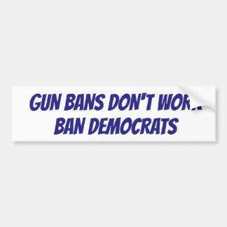 Adesivo Para Carro É hora de proibir Democratas