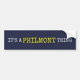 Adesivo Para Carro É uma coisa de Philmont