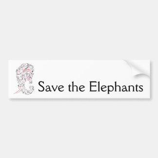 Adesivo Para Carro economias do ornamentado do elefante os elefantes