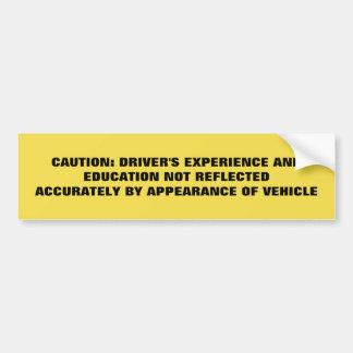 Adesivo Para Carro Educação e experiência