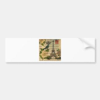 Adesivo Para Carro Eiffel Tower vintage Paris