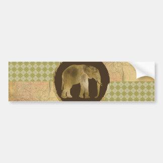 Adesivo Para Carro Elefante africano no mapa e no Argyle
