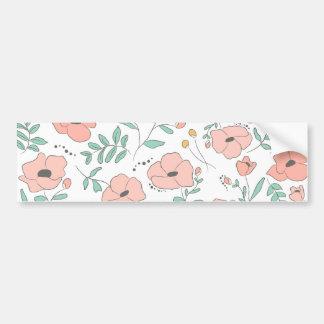 Adesivo Para Carro Elegant seamless pattern with flowers, vector illu
