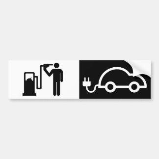 Adesivo Para Carro Eletricidade contra o bocal de combustível do