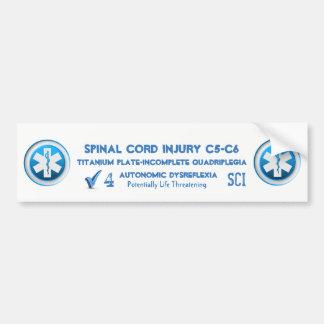 Adesivo Para Carro Emergência médica da etiqueta alerta médica da