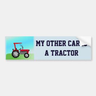 """Adesivo Para Carro Engraçado """"meu outro carro é um trator """""""