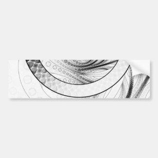 Adesivo Para Carro Enso, um círculo preto e branco perfeito do