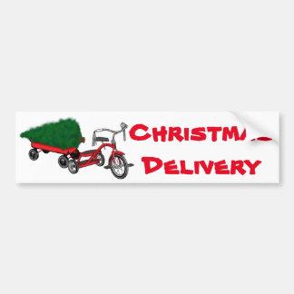 Adesivo Para Carro entrega da árvore de Natal