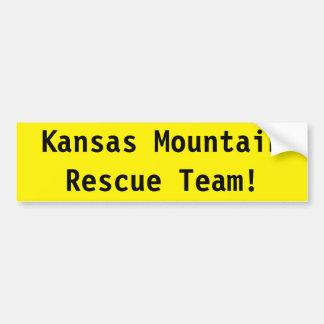 Adesivo Para Carro Equipa de salvamento da montanha de Kansas!