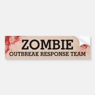 Adesivo Para Carro Equipe da resposta da manifestação do zombi