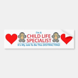 Adesivo Para Carro Especialista da vida da criança que confunde o