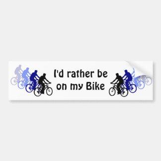 Adesivo Para Carro Esporte - Biking, dando um ciclo, bicicleta