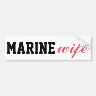 Adesivo Para Carro Esposa marinha