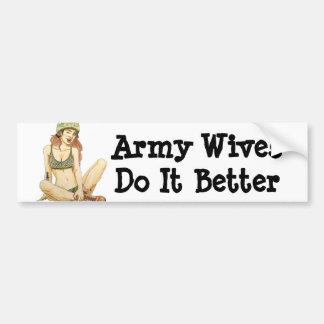 Adesivo Para Carro Esposas do exército melhora o autocolante no vidro