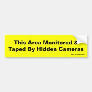 Adesivo Para Carro Esta área monitorada & gravada por câmeras