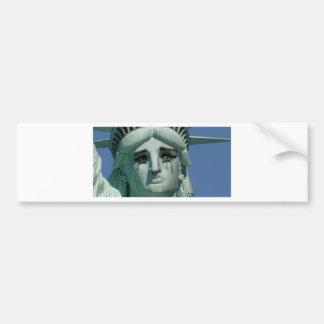 Adesivo Para Carro Estátua da liberdade de grito