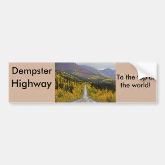 Adesivo Para Carro Estrada de Dempster à parte superior do mundo