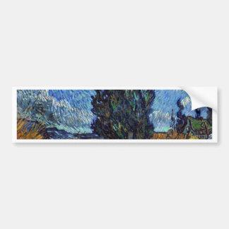 Adesivo Para Carro Estrada secundária de Vincent van Gogh em Provence