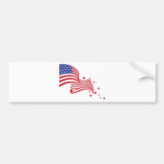 Adesivo Para Carro Estrelas da bandeira americana