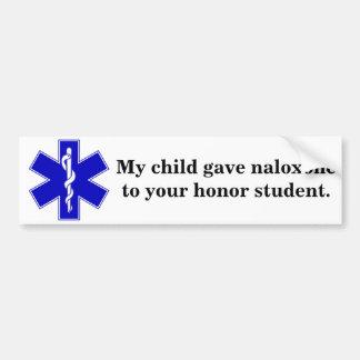 Adesivo Para Carro Estudante da honra de Naloxone