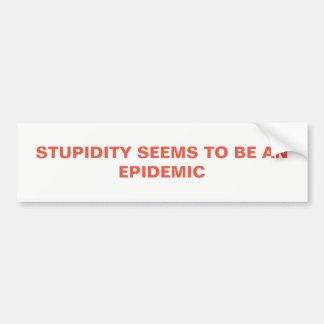 Adesivo Para Carro Estupidez