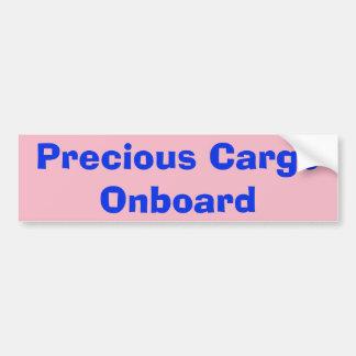 Adesivo Para Carro Etiqueta a bordo da carga preciosa
