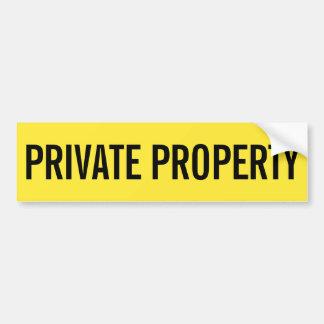 Adesivo Para Carro Etiqueta amarela e preta da propriedade privada